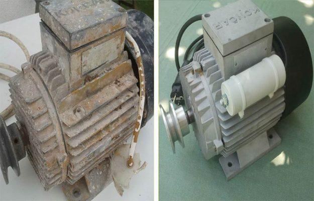 بازپیچی موتور الکتریکی