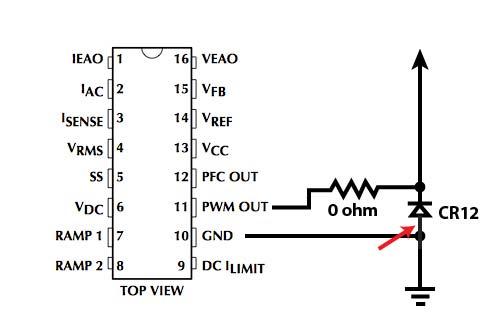 دیاگرام مدار مربوط به محرک خروجی U1